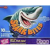 Betty Crocker Shark Bites Fruit Flavored Snacks 10-0.8oz pouches (NET  WT 8 oz box )