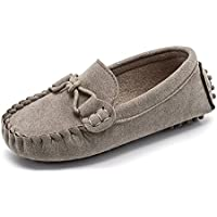 KVbaby Kids Boys' Suede Leather Loafer Flats Casual Slip-Ons Toddler Soft Shoes Boat Dress Shoes