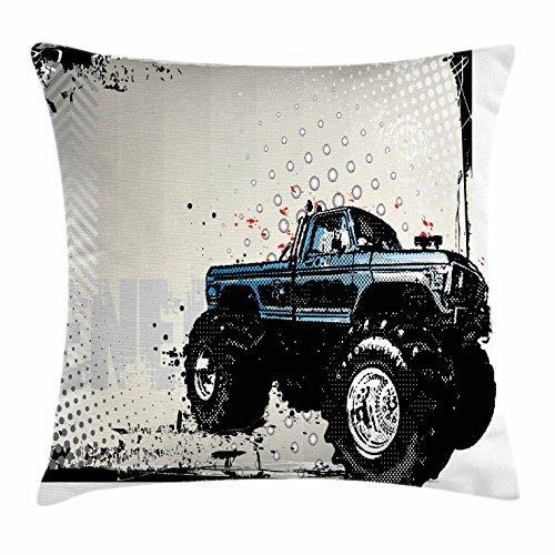 Ambesonne - Funda de cojín para camión, diseño de Halftone ...