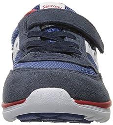 Saucony Jazz Lite Sneaker (Toddler/Little Kid), Navy/Cobalt/Red, 8 M US Toddler