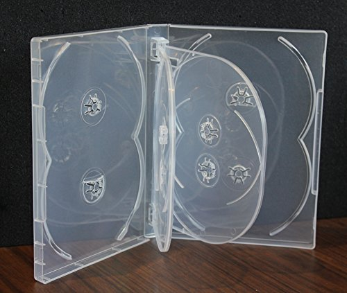 New 2 Pack Crystal Clear Multi Eight Tray DVD Case Box 22mm 8 Discs Holder W Flap Premium Quality