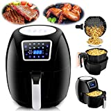 Cheap F2C XL 6.3QT 8-in 1 Programmable Electric Oil-Free Air Fryer Hot Deep Fryer Cooker Air Roaster Full Touch Digital LCD Screen Airfryer Fast Cooking Non-Stick W/Detachable Basket& Recipe Books, 1800W