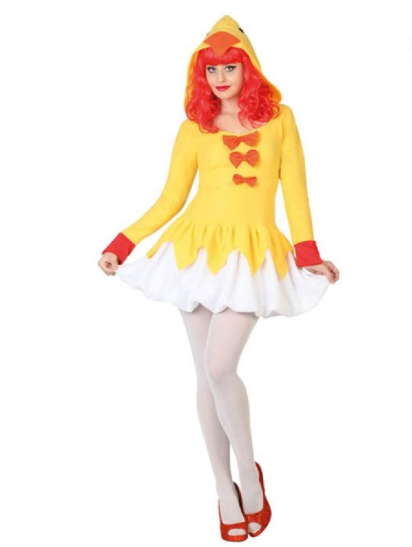 Disfraz de gallina Amarilla para Mujer, diseño de Gallo y pájaro ...