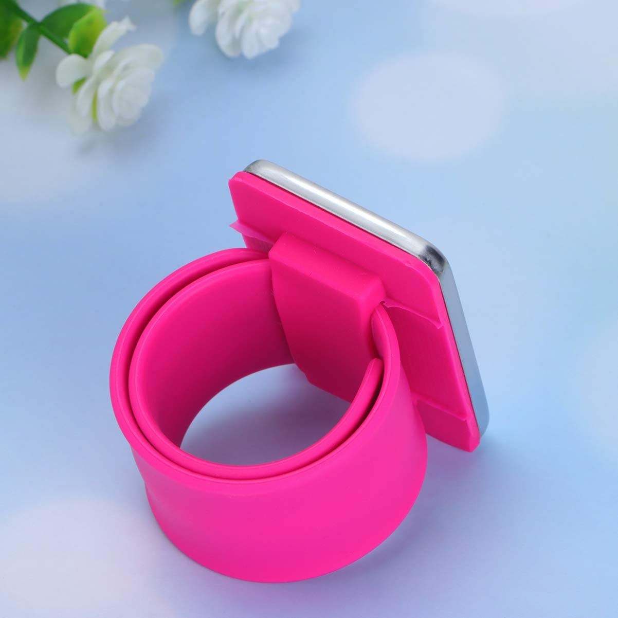 HEALLILY 2pcs Magnetic Wrist Pin Holder Magnetic Sewing Pincushion Slap Bracelets for Sewing Quilting Hair Bobby Pins Sewing Needles