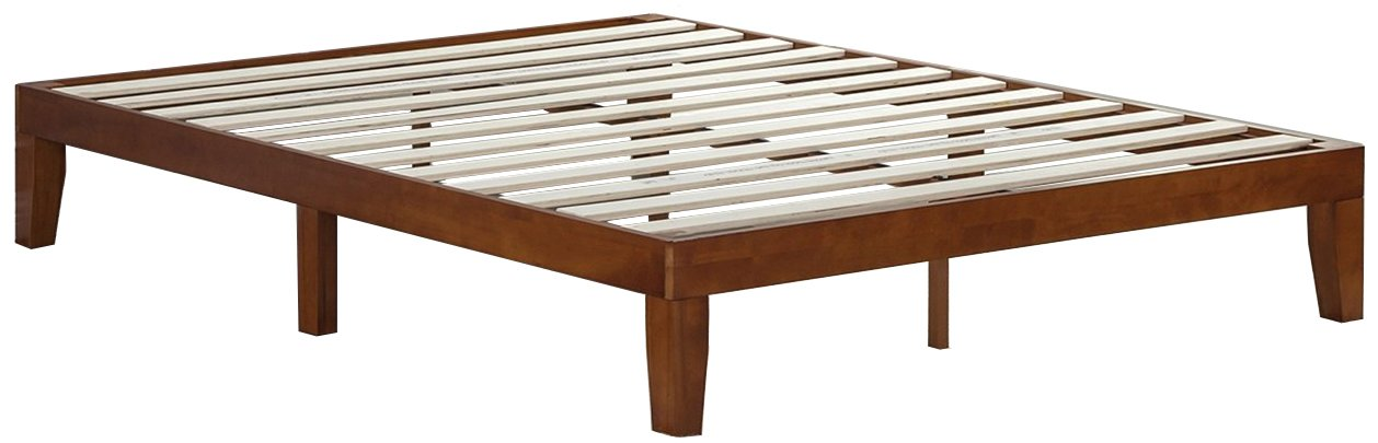 Zinus 12 Inch Wood Platform Bed / No Boxspring Needed / Wood Slat support / Cherry Finish, Queen by Zinus (Image #2)