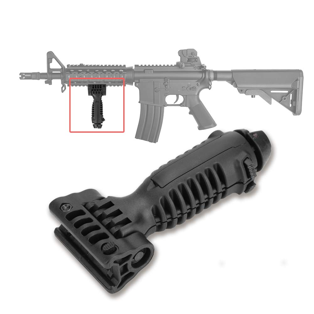 Tactical Rifle Bipod Hand Fore Grip Vertical 20mm Foregrip Picatinny Weaver Rail