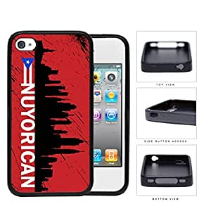 Nuyorican New York City Silhouette Rubber Silicone TPU Cell Phone Case Apple iPhone 4 4s