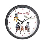CafePress – Dairy Goat Milking Time Barn – Unique Decorative 10″ Wall Clock