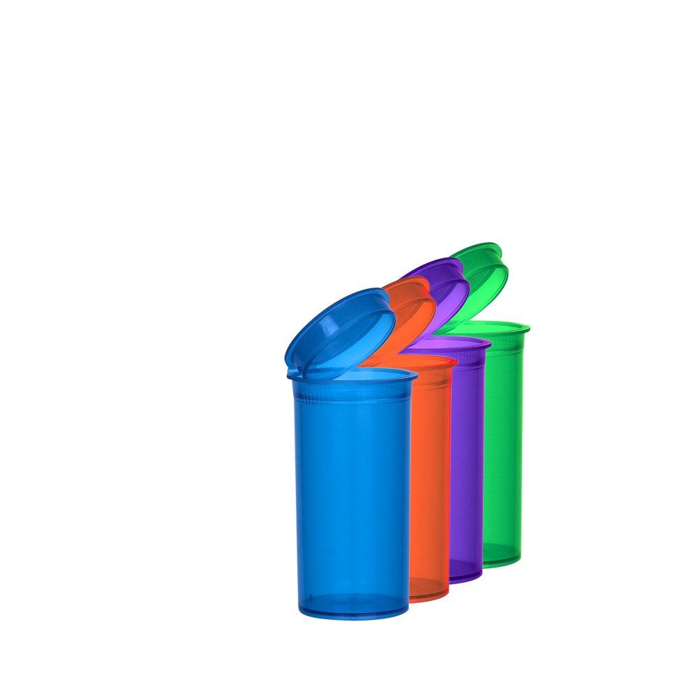 Assorted Colors Pop Top Bottle 13 Dram (2 Boxes - 315 Containers per Box) - MJ-PVM13 by Verified Exchange