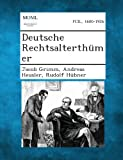 Deutsche Rechtsalterthumer, Jacob Grimm and Andreas Heusler, 1287361552