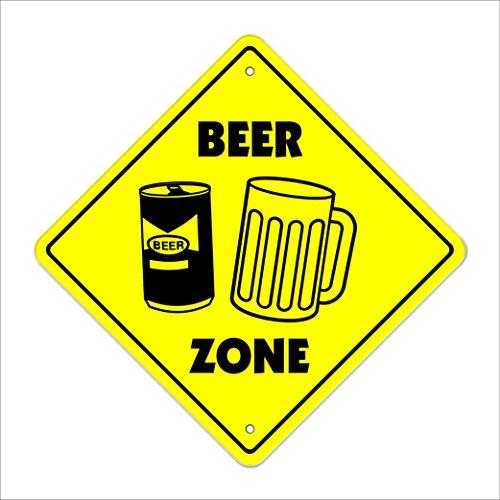 Beer Crossing Sign Zone Xing | Indoor/Outdoor | 12