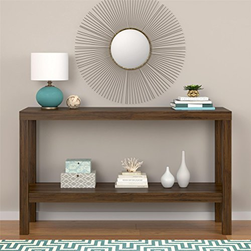 Sturdy Sleek Design Entryway Walnut Console Table (Bombay Living Room Ottoman)