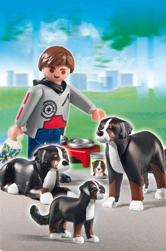 Playmobil-Perros-Figuras-de-montaa-con-cachorro-5214