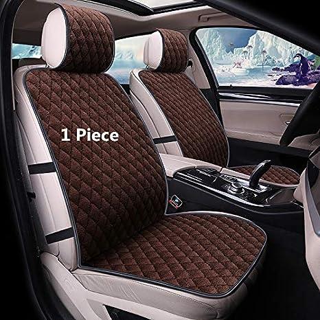 MuYiHan Universal Auto Car Seat Covers Faux Fur Cute Interior Accessories Cushion Winter Plush