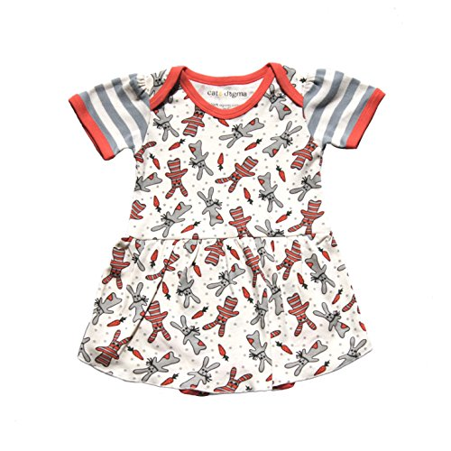 "Cat & Dogma Certified Organic Infant/Baby Clothing ""Bunny"" Dress (0-3 Months) (Walmart Bedding Chevron)"