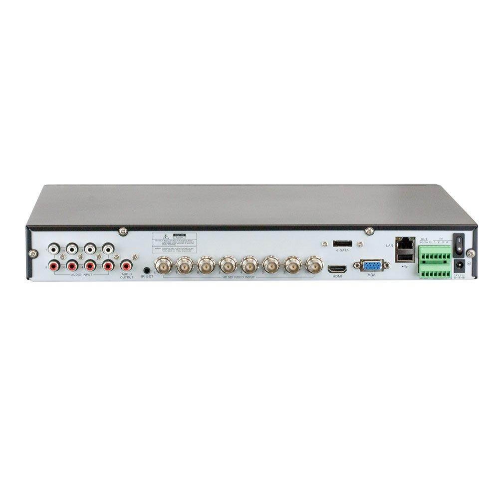 GW Security 1208HDSDI-788HD8-4T 8-Channel HD-SDI 4 TB DVR 1080P CCTV Security 8-Camera System Grey