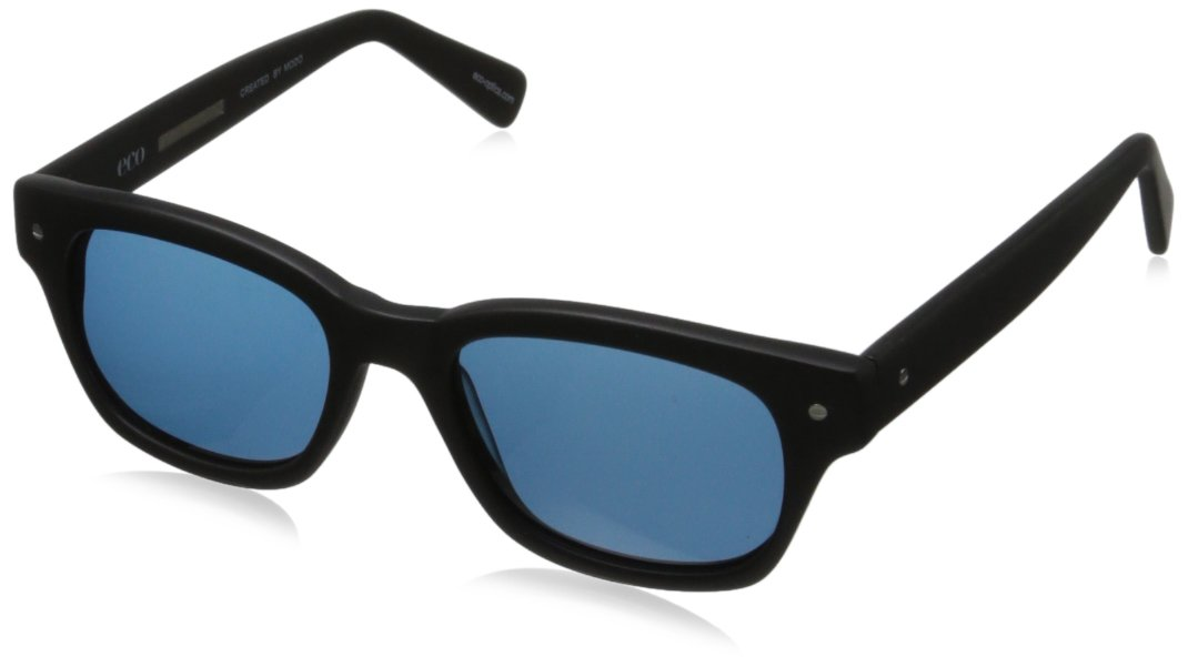 eco Vail Rectangular Sunglasses, Black, 51 mm