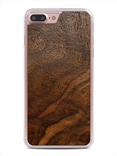 Carved Walnut Shell - Walnut Burl by Carved - Apple iPhone 7 Plus Wood Case - Clear Polycarbonate Hard Shell with Real All Wooden Cover