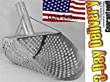 8″ Beach Sand Scoop Garrett Metal Detecting Genuine Stainless Steel #2mm hole 8mm