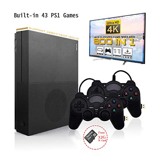 HD Video Game Entertainment System , Retro Game Console 4K HDMI Output Built-in 800 Classic Game Console with 2PCS Joystick