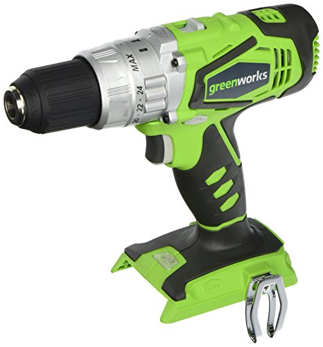 Greenworks 24V 2-Speed Cordless Hammer Drill, Battery Not Included 3700502A (Greenworks 24v Drill Driver And Impact Driver Combo)