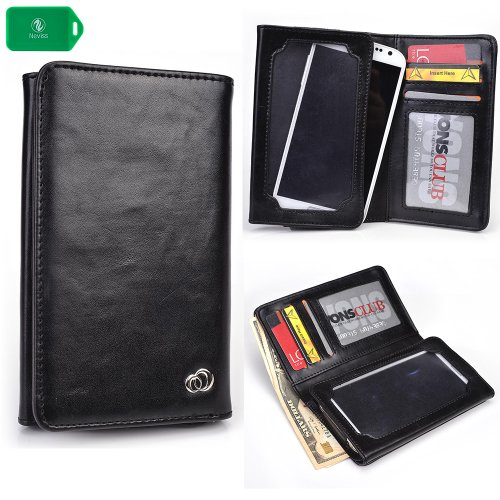 Cheap Wallet Cases UNIVERSAL unisex BI FOLD WALLET/PHONE CASE W/TOUCH SCREEN IN BLACK FOR Samsung..