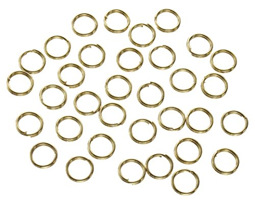 - Darice 180 Piece Double Split Ring, 6 mm, Brass
