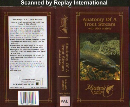 Anatomy Of A Trout Stream (Video Tape/Pal) - Very Good Condition ...