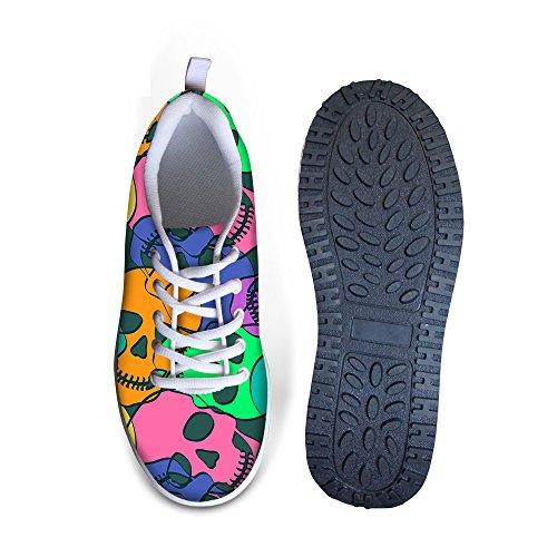 Sneaker Da Allenamento Idea Fashion Con Teschio In Maglia Cranio Per Donna Teschio 3