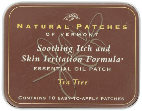 Natural Patches Of Vermont Tea Tree Itch & Skin Care Essential Oil Body Patches, 10-Count Tins ()