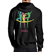 BB&YYY colorful Elegant Ballet Mens' Pullover Hoodie Sweatshirt Back Print Hoodies