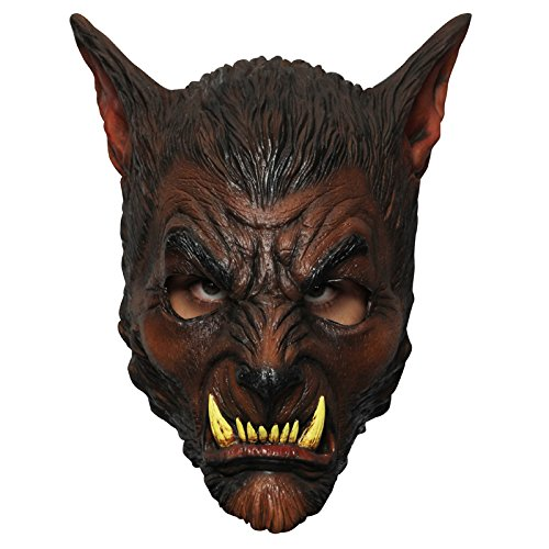 Générique Generic mahal628-Wolf Werewolf Latex Mask-Adult ONE Size