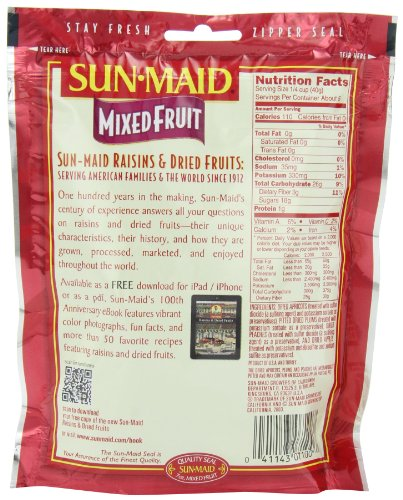 Sun Maid Mixed Fruit, 7-Ounce Pouches (Pack of 6) by Sun Maid (Image #4)