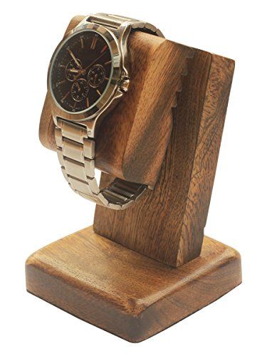 Deal of the Day - AB Handicrafts - Mango Wood Polish Wooden Watch Stand / Dock / Station / Platform For All Models / MOMS, DADS, GRANDPARENTS (Watch Stand Burn - Weird For Sunglasses Sale