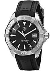 TAG Heuer Mens WAY1110.FT8021 300 Aquaracer Stainless Steel Watch with Black Rubber Band