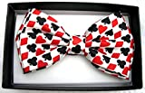Men's Unisex Wedding Party Tuxedo Poker Aces Dress Bow Tie Bowtie! Brand New in Factory Box!