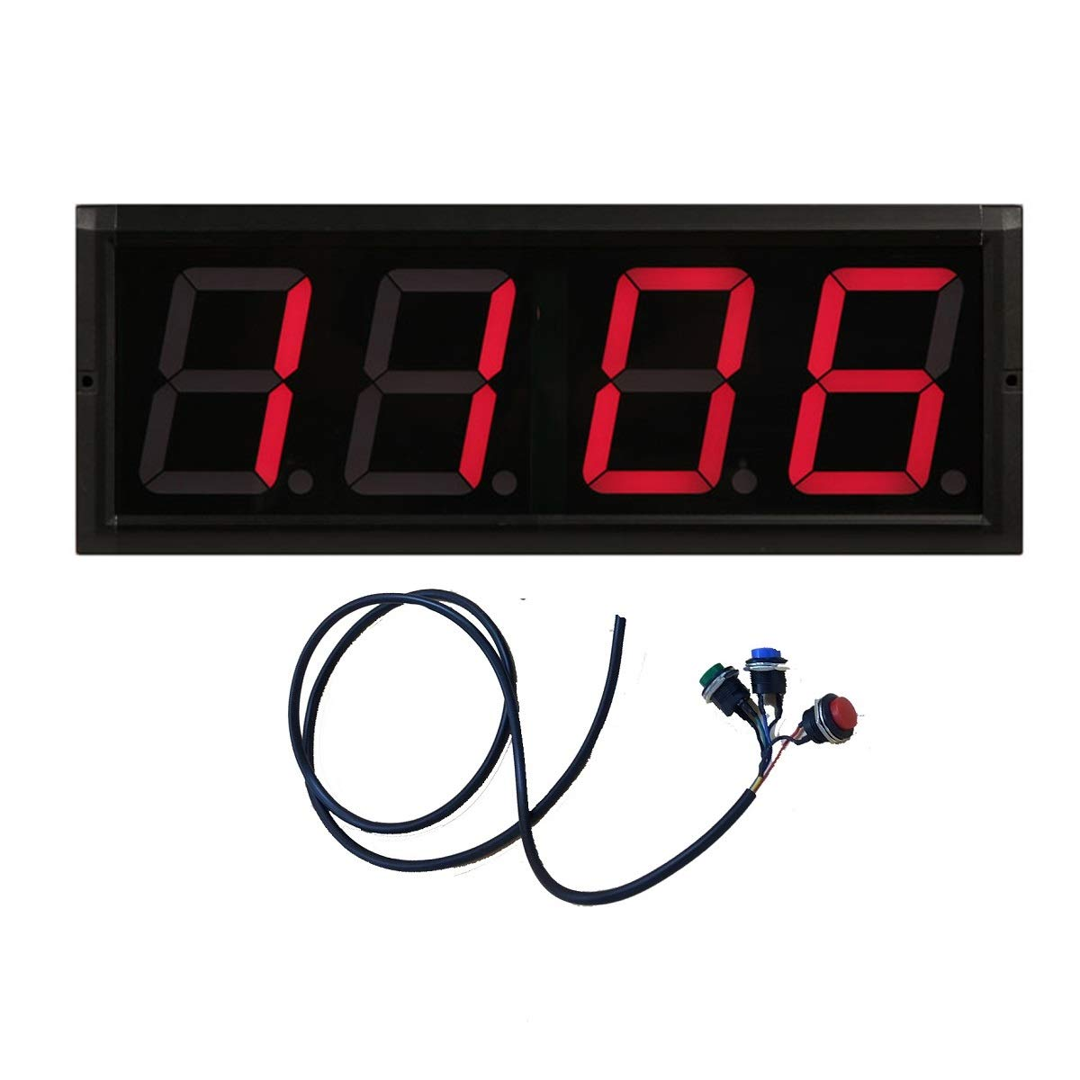 BTBSIGN 4'' 4Digits Large LED Counter Visual LED Display Count Down/Up by Wired Buttons and Wireless Remote BTB SIGN CO. LTD