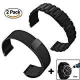 Gear S3 Frontier / Classic Watch Band,ViCRiOR 22mm Stainless Steel Metal Band + Magnet Lock Milanese Loop Mesh Stainless Steel Bracelet Strap for Samsung Gear S3 Frontier / S3 Classic Smart Watch