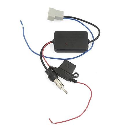 Amazon.com: eDealMax coche precableado Booster FM Antena Antena amplificador de la señal: Electronics