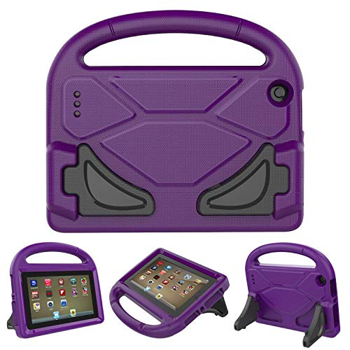 F i r e 7 2017/2015 Kids Case - Roasan Light Weight Shock Proof Handle Friendly Stand Kid-Proof Case for All New F i r e 7 inch Display Tablet Cover (7th Gen / 5th Gen, purple)
