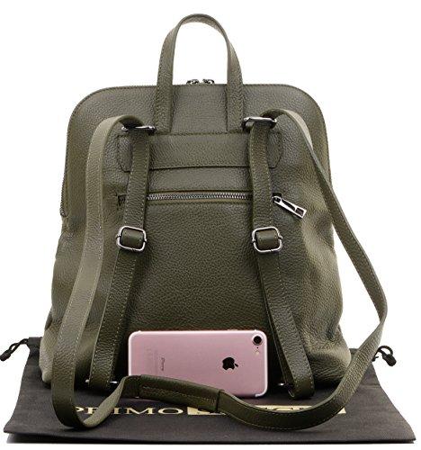 protection stockage bandoulière sac en poignée de Sacchi® Top Olive marque dos sac Inclut de italienne sac texturé à Primo de cuir le 0Uq6aaw
