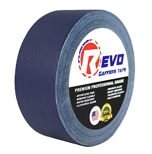 revo-premium-professional-gaffers-tape-2-x-30-yards-made-in-usa-blue-gaffers-non-reflective-tape-cam