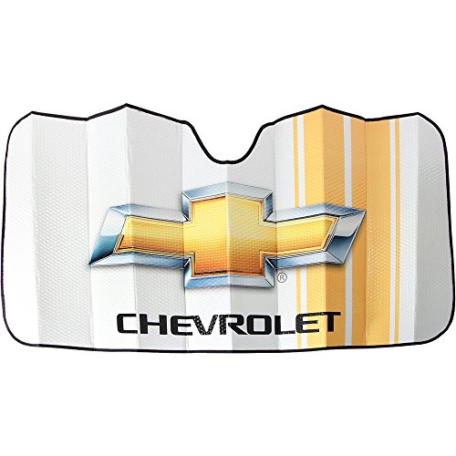 UNIQUE AUTOMOTIVE ACCESSORIES Licensed Chevrolet Chevy Universal Windshield Car Truck Van SUV Sun Shade