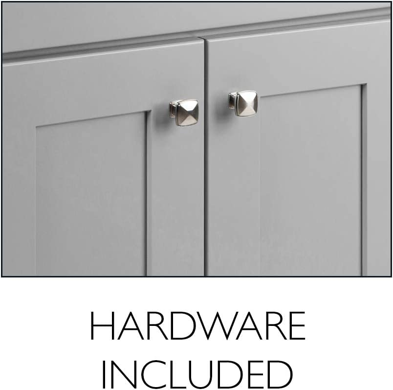 Gray Design House 587097 Brookings Unassembled Modern Shaker Vanity Cabinet Only 4-Inch Centerset