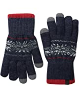 Timberland Men's Fair Isle Knit Glove with Touchscreen Technology