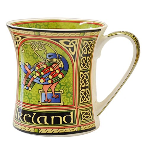 (Celtic Peacock Ireland Bone China Mug)