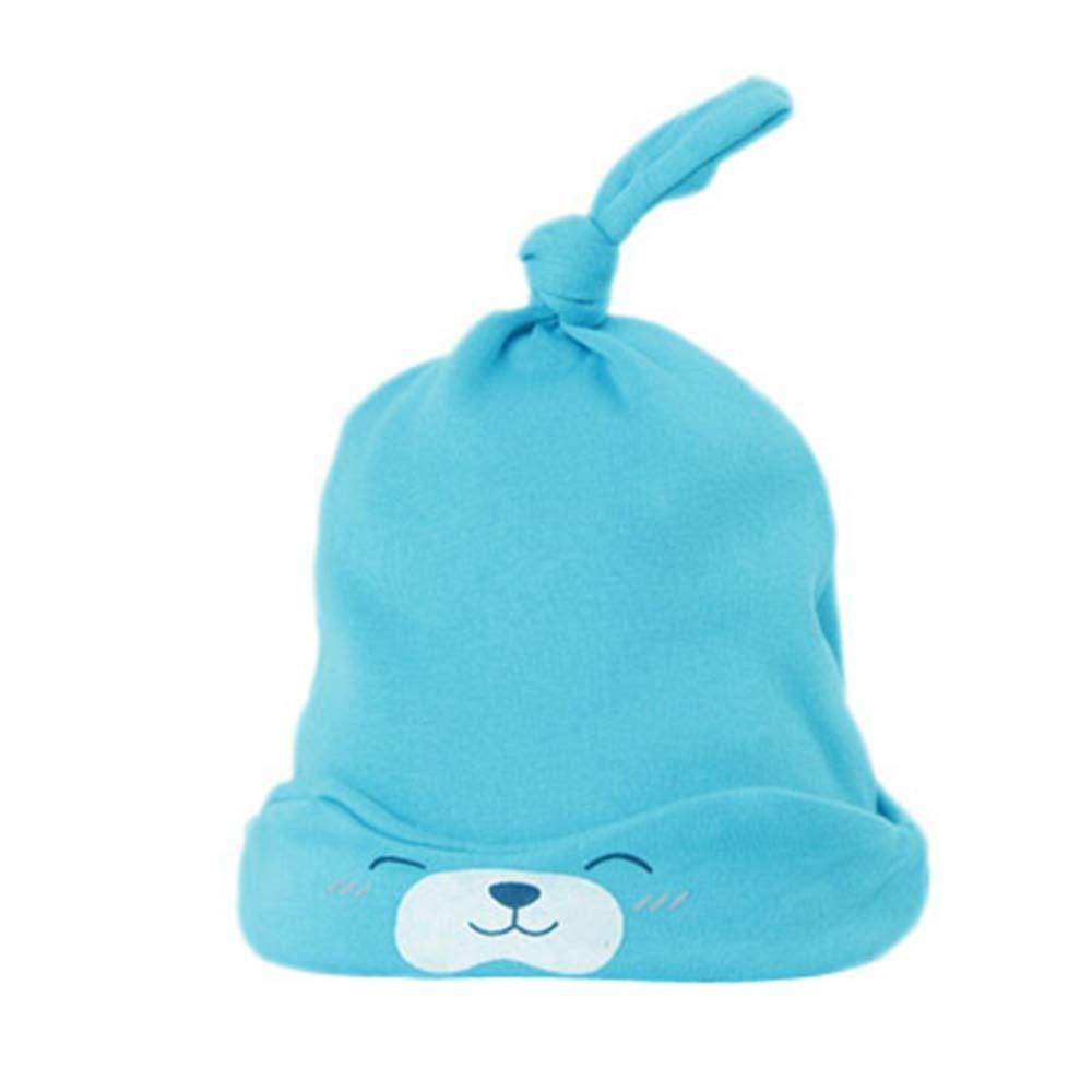 Sombrero de punto para recién nacido, suave, 1 unidad, para guardería rosa rosa Talla:40-50CM MENGZHEN