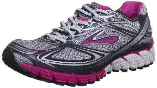 Brooks Ghost5 W - Zapatillas de correr de material sintético mujer Silber/Schwarz/Rosa (Silber/Schwarz/Rosa)