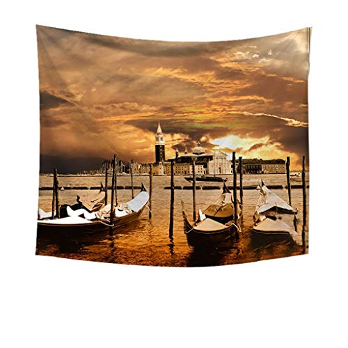 - Indoor Tapestry, pollyhb Fantasy Sunset Coast Scenery Wall Hanging Tapestry for Dorm Living Room Bedroom Decor