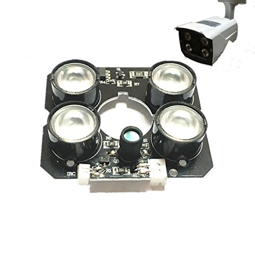 TOOGOO 4 Array IR led Spot Light Infrared 4X IR LED Board CCTV Cameras Night Vision (52mm Diameter)